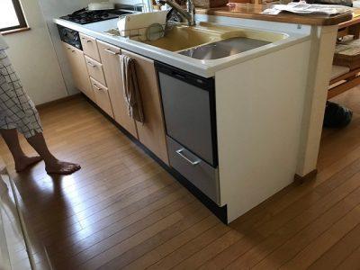食洗機,トップオープン,取り付け,上開き,買い換え,交換,取り替え,リフォーム,ビルトイン,食洗機交換工事,取り付け,NP-45RS7KJGK,パナソニック,LIXIL