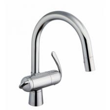 グローエ製(GROHE)JP192601 ゼドラ(ZEDRA)浄水器兼用シングルレバーキッチン混合栓(トクラス製カートリッジ付)  ▼浄水器