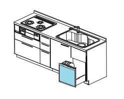 シンク下食器乾燥機 撤去工事