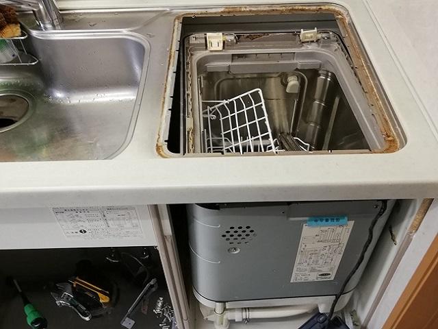 食洗機,トップオープン,取り付け,上開き,買い換え,交換,取り替え,リフォーム,ビルトイン,食洗機交換工事,取り付け,NP-45MS8S,パナソニック,
