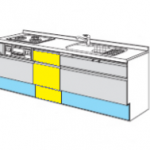 INAXキッチン 前開き食洗機撤去 収納