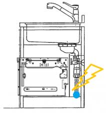シンク下食洗機取替え交換工事 排水位置注意