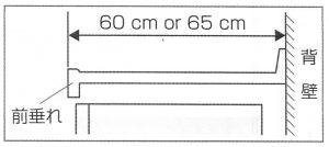 システムキッチン 奥行の測り方