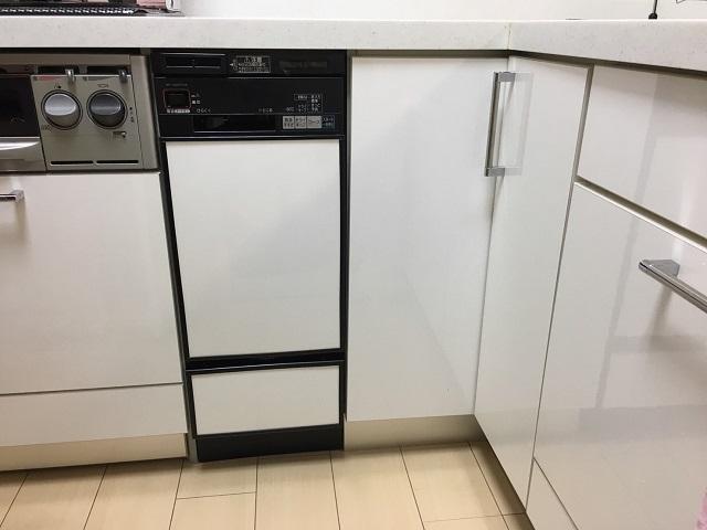 食洗機,食洗機取替え,システムキッチン,ビルトイン食食洗機入れ替え,食器洗い乾燥機,システムキッチン,スライド食洗機,パナソニック,NP-45MD8S,30cm幅食洗機