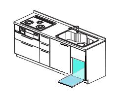 シンク下食洗機 取替え交換工事 確認