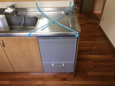 食洗機,トップオープン,取り付け,上開き,買い換え,交換,取り替え,リフォーム,ビルトイン,食洗機交換工事,取り付け,リンナイ,RKW-404A-SV