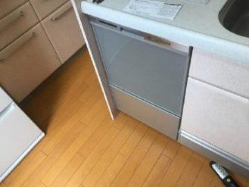 スライドオープン食洗機,引出しタイプ,食洗機交換,食洗機取替え,施工事例,パナソニック,NP-45MS8S,ミドルタイプ,システムキッチン,ビルトイン食洗機,ビルトイン機器交換