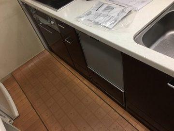 食洗機,買い換え,交換,取り替え,リフォーム,ビルトイン,食洗機交換工事,取り付け,シルバー,RKW-404A-SV,リンナイ