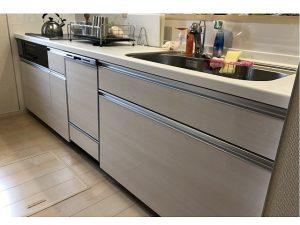 新規設置,後付け,システムキッチン,リフォーム,取り付け,あとからビルトイン,新規取り付け,パナソニック,ビルトイン食洗機,LIXILシステムキッチン,NP-45MD8S,深型食洗機,ファーストプラス