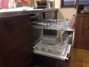 フロントオープン食洗機 取替え交換工事