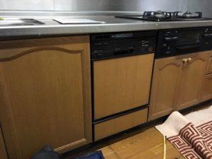 食洗機,システムキッチン,サンウェーブ,食洗機取替え,パナソニック,NP-45RD7K,食器洗い乾燥機,食洗器,ブラック,深型,施工事例