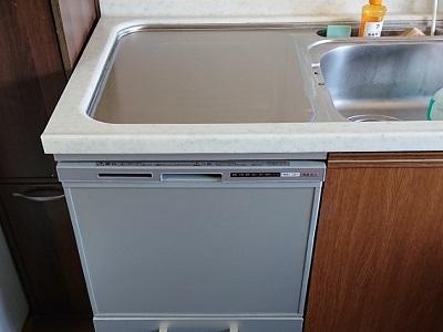 食洗機,トップオープン,取り付け,上開き,買い換え,交換,取り替え,リフォーム,ビルトイン,食洗機交換工事,取り付け,パナソニック製,リクシル,NP-45RS7SJGK,EW-CB54-YH