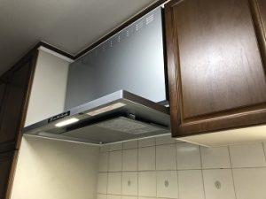 システムキッチン,レンジフード,買い換え,交換,工事,取替え,取り替え,薄型,フィルターレス,