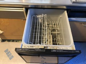 DIY スライド食洗機 取替え交換工事