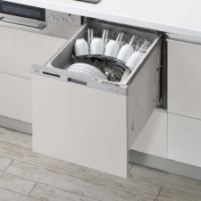 リンナイ製(永大産業)JS-RKW-404AM-SV シルバー 扉面材 スライドオープンタイプ ○食洗機