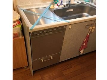 食洗機,トップオープン,取り付け,上開き,買い換え,交換,取り替え,リフォーム,ビルトイン,食洗機交換工事,取り付け,リンナイ,RKW-404A-SV,ステンレス蓋