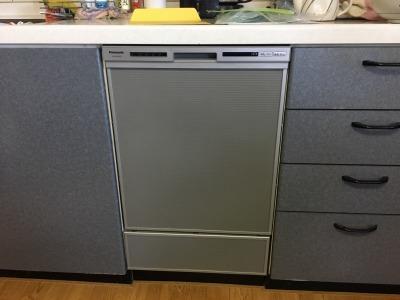 食洗機,買い換え,交換,取り替え,リフォーム,ビルトイン,食洗機交換工事,取り付け,シルバー,パナソニック,パナソニック製,NP-45VD7S,NP-U45B2P1,深型