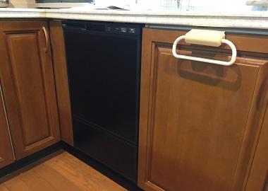 食洗機,買い換え,交換,取り替え,リフォーム,ビルトイン,食洗機交換工事,取り付け,リンナイ製,フロントオープン食洗機,ブラックカラー,RSW-F402C