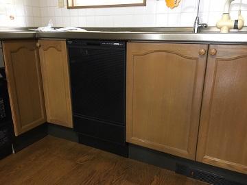食洗機,買い換え,交換,取り替え,リフォーム,ビルトイン,食洗機交換工事,取り付け,シルバー,フロントオープン,NP-45RD7S、パナソニック製,サンウェーブの食洗機