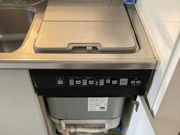食洗機,トップオープン,取り付け,上開き,買い換え,交換,取り替え,リフォーム,ビルトイン,食洗機交換工事,取り付け,パナソニック製,ブラック,NP-45RS7K