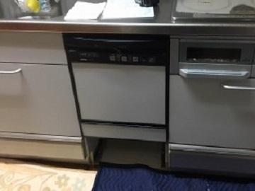 食洗機,買い換え,交換,取り替え,リフォーム,ビルトイン,食洗機交換工事,取り付け,シルバー,クリナップ製キッチン,NP-45MS8S,パナソニック