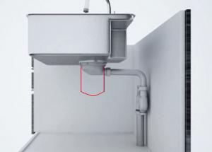 キッチン排水トラップ 収納スペース