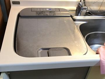 食洗機,撤去,トップオープン食洗機,サンウェーブ,三菱