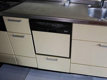 スライドオープン食洗機,撤去,RKW-456A,取り外し,リンナイ,日立ハウステック