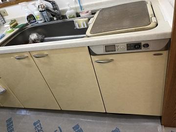 食洗機,トップオープン,取り付け,上開き,買い換え,交換,取り替え,リフォーム,ビルトイン,食洗機交換工事,取り付け,リンナイ,ZWPP45R14LDS-E,クリナップ