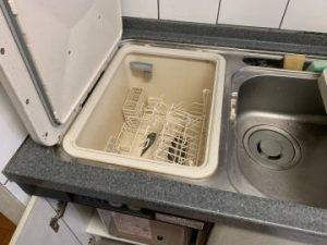 トップオープン食洗機内 工事前 片付け
