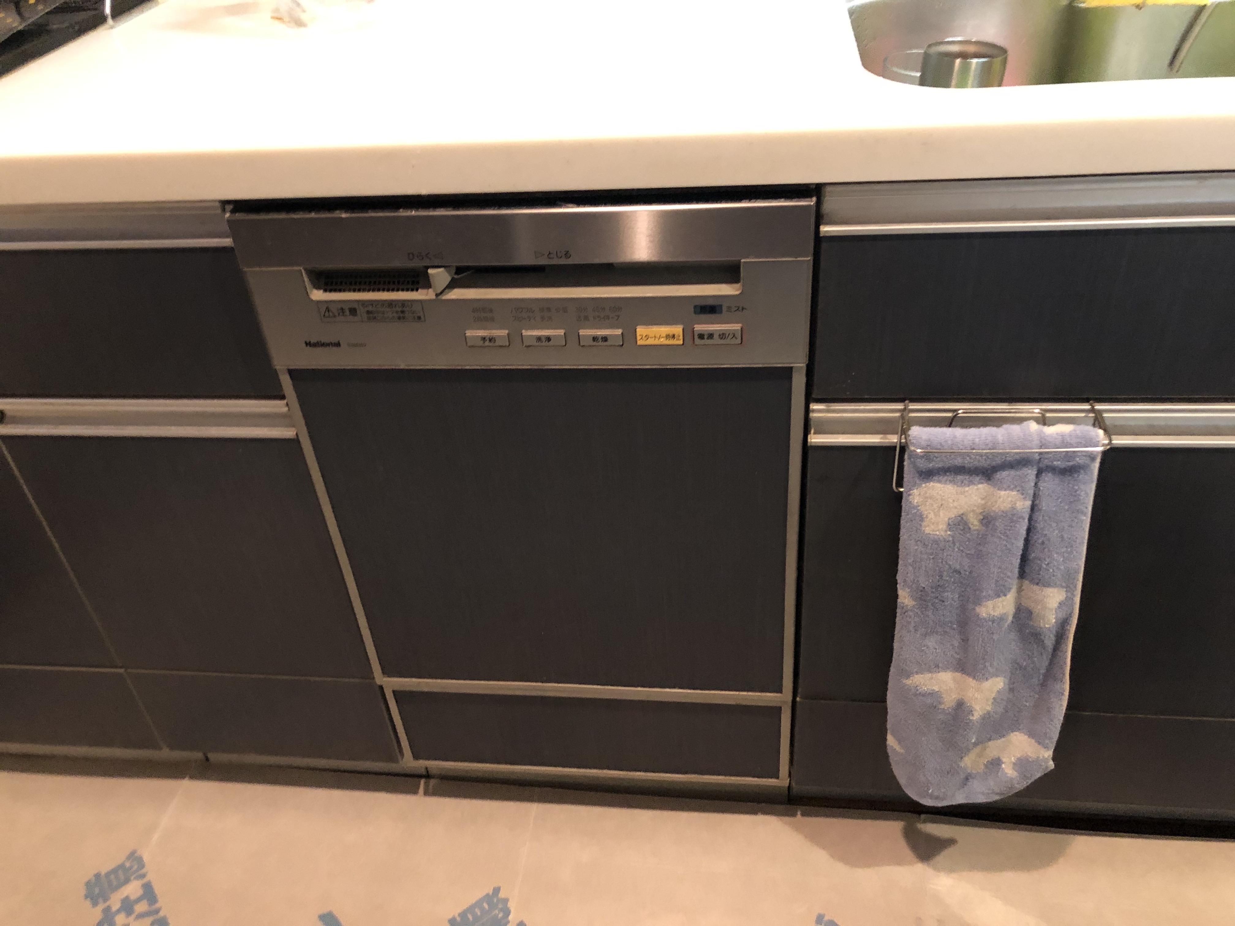 食器洗い乾燥機,食器洗い機,食洗機,買い換え,交換,取り替え,リフォーム,ビルトイン,食洗機交換工事,取り付け,シルバー,パナソニック,NP-45MD8S