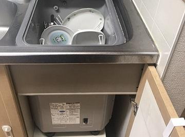 食洗機,トップオープン,取り付け,上開き,買い換え,交換,取り替え,リフォーム,ビルトイン,食洗機交換工事,取り付け,クリナップ,ZWPP45R14LDS-E,サンウェーブ,MISW-4521