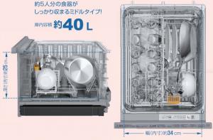 パナソニック食洗機 ミドル庫内サイズ