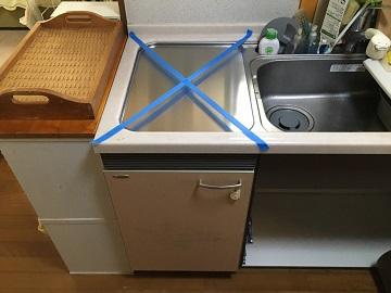 食洗機,トップオープン,撤去,取り外し,外す,食器洗い乾燥機,ヤマハ,EW-CB70-YH,三菱製,三菱