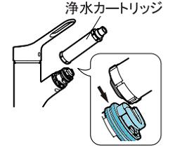 LIXILオールインワン浄水栓 カートリッジ交換方法③AJ