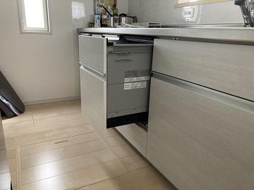 新規設置,後付け,システムキッチン,リフォーム,取り付け,あとからビルトイン,新規取り付け,深型,パナソニック製,ビルトイン食洗機,食洗器,食器洗い機,食器洗い乾燥機,ビルトイン,LIXIL,NP-45KE8WJG
