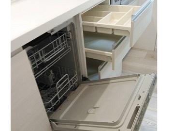 食洗機,買い換え,交換,取り替え,リフォーム,ビルトイン,食洗機交換工事,取り付け,食器洗い乾燥機,ビルトイン機器工事,リンナイ,RSW-F402C-SV,食器洗い乾燥機,ECB045HBXIN-E3MBN,クリナップ,75㎝キャビネットから