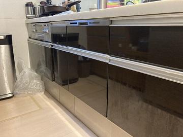 食洗機新設工事,NP-45MD8S,スライド食洗機,食洗機後付け,食洗機パネル,パナソニック