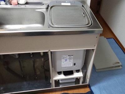 MISW4511,三菱用ステンレスフタ,食洗機撤去,撤去工事,トップオープン食洗機,サンウェーブ
