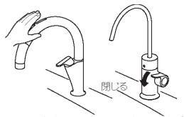 JF-45N カートリッジ交換方法 止水