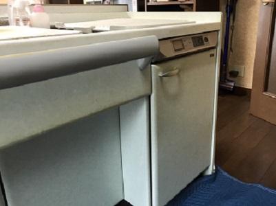 EW-CB70YH,NP-45MS9S,人工大理石ふた,トップオープン食洗機,スライドオープン食洗機,食洗機取り替え,食洗機取替,panasonic,ヤマハ