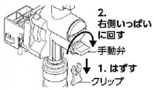 KVK製(KVK)KM6131SCEC 浄水器付シングルレバー式シャワー付混合栓 停電の場合