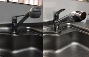 キッチン水栓をスパウトイン浄水栓へ取替え可能