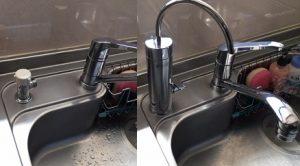 分岐水栓をカウンターオン浄水器へ交換工事