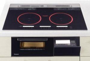 パナソニック製(Panasonic)JUGSYP77EK ブラック 3口IH ダブル(左右IH)ハイスピードオールメタル対応 Yシリーズ Y7タイプ